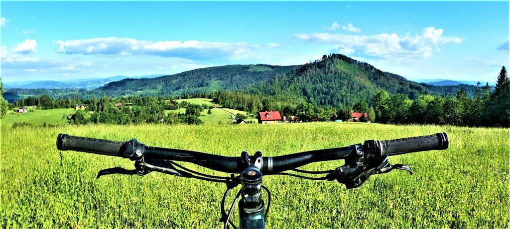 Trasa rowerowa na górę Cieślar z Wisły Dziechcinki przez Mały Stożek