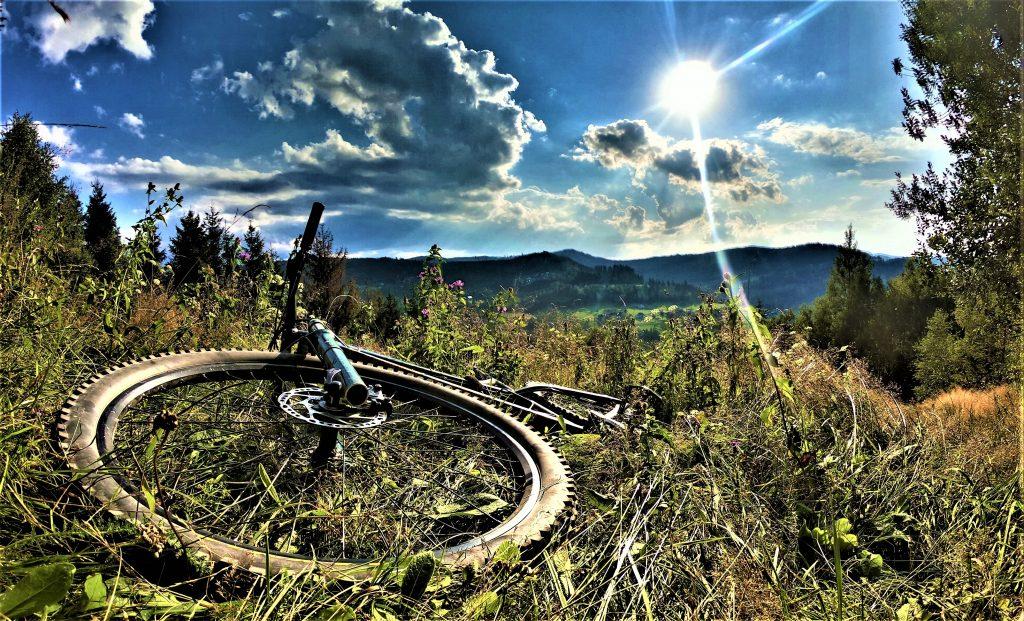 Powrót oczywiście niebieskim szlakiem do Wisły