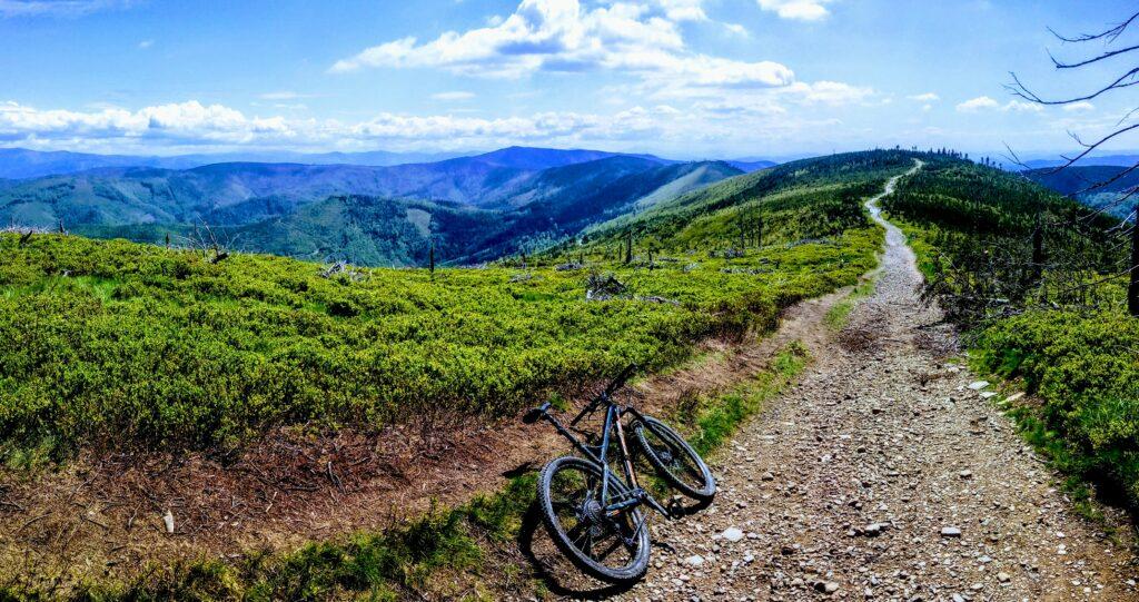Najpiękniejszy zielony szlak w Beskidzie Śląskim rowerem na Skrzyczne