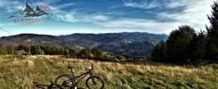 Wielki Soszów trasa rowerowa z Wisły widok na Klimczok